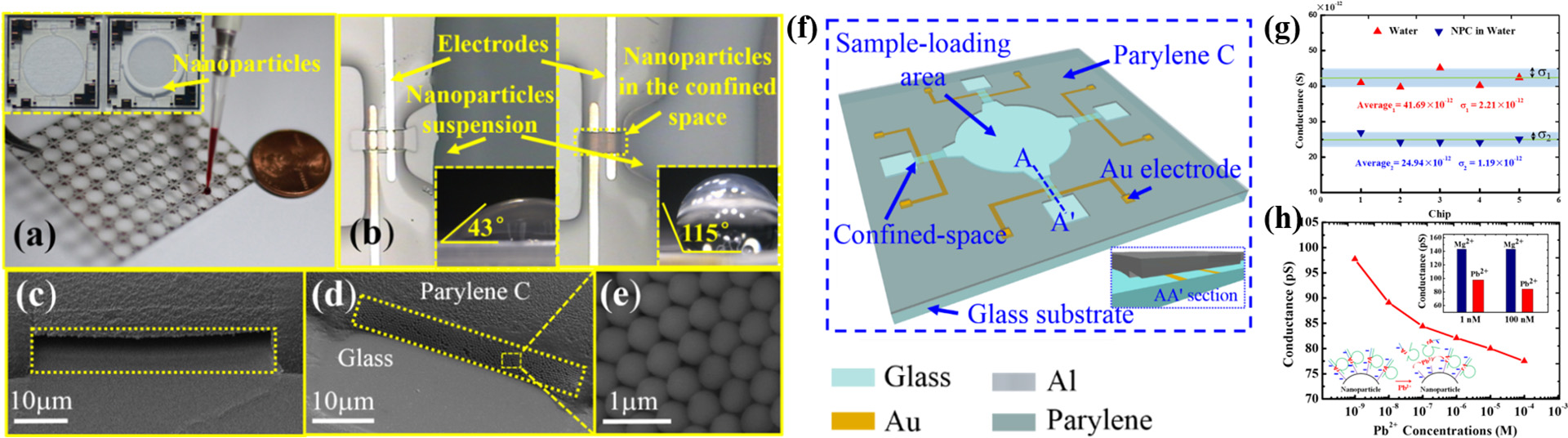 Nanofluidic crystal chips for ionic sensing